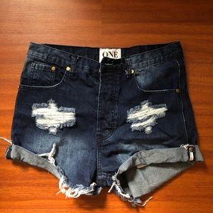 One teaspoon denim shorts, high waisted